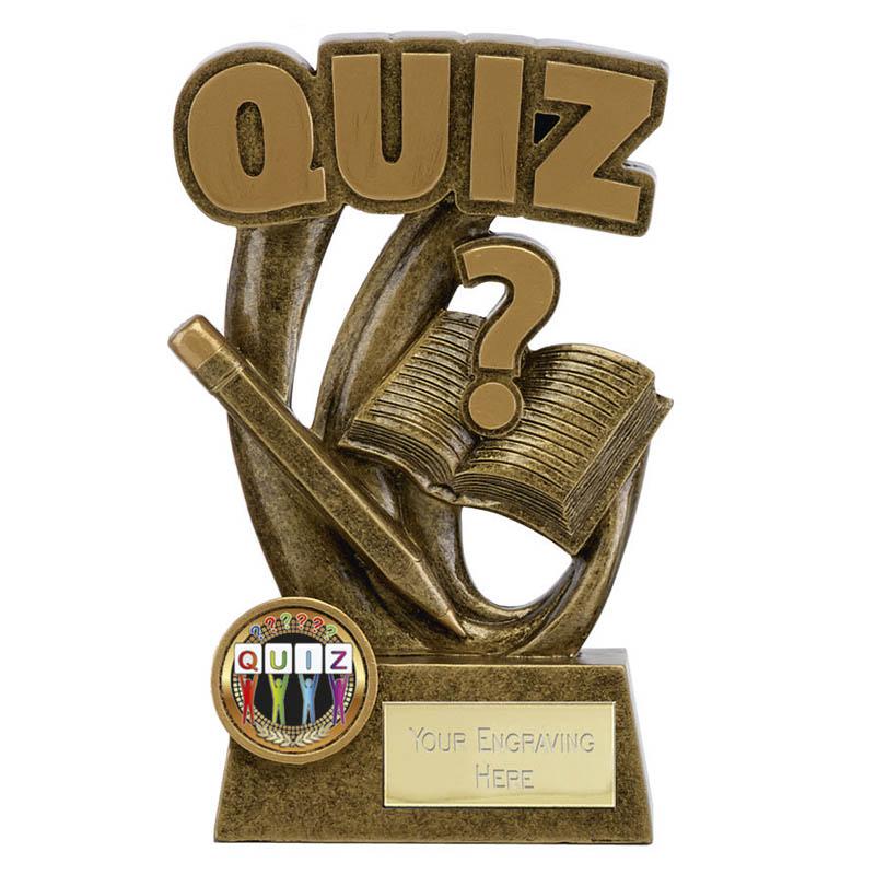 6 Inch Pen & Book Quiz Epic Shield Award