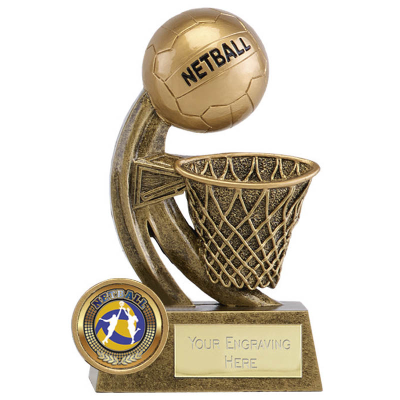 5 Inch Ball & Net Netball Epic Award