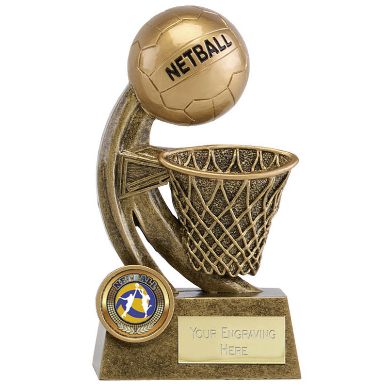 6 Inch Ball & Net Netball Epic Award