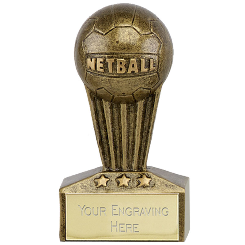 3 Inch Ball on Podium Netball Micro Award