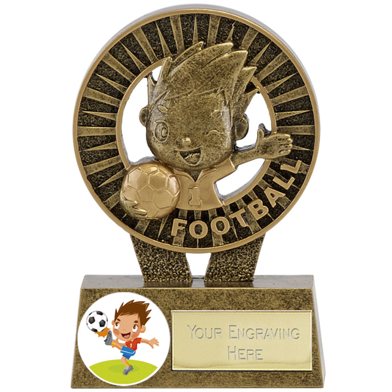 4 Inch Happy Player Football Kidz Award