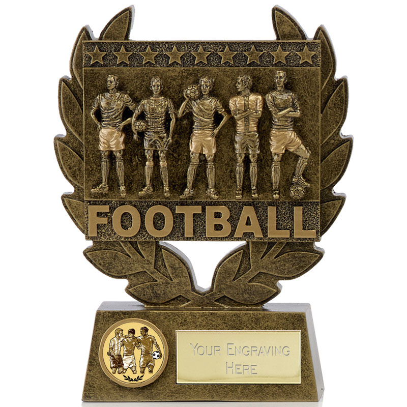 5 Inch Wreath Football Synergy Statue