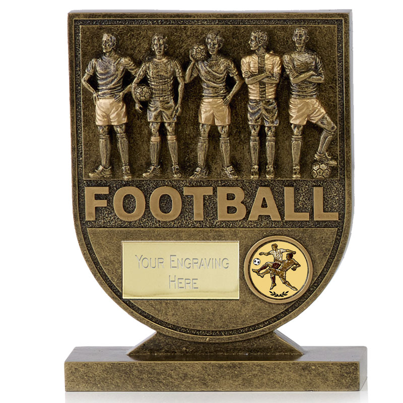 7 Inch Teammates Football Spirit Shield
