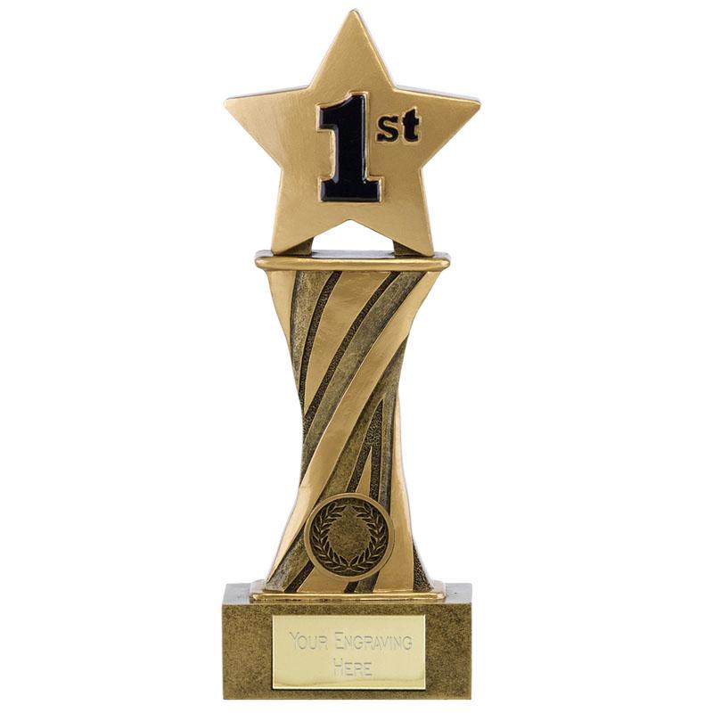 9 Inch 1st Place Star Spiral Showcase Award