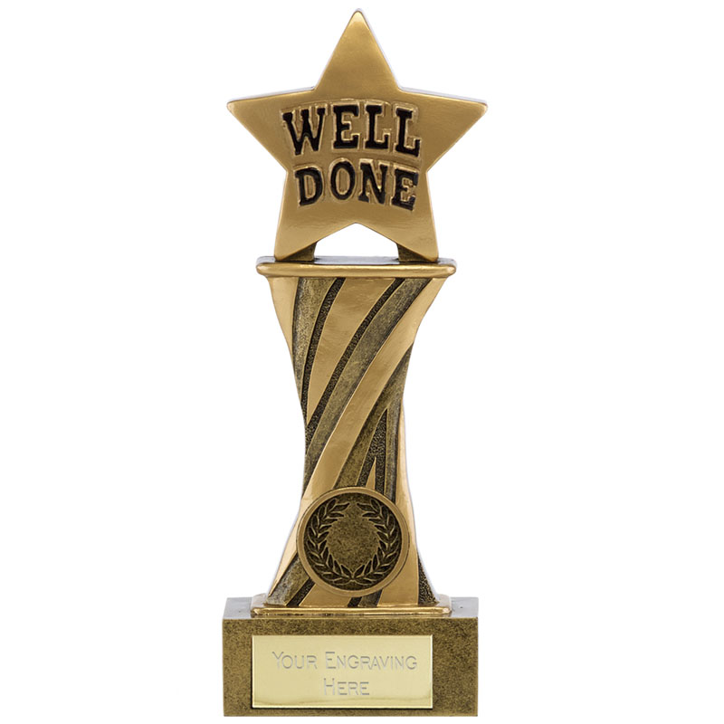 7 Inch Well Done Star Spiral Showcase Award