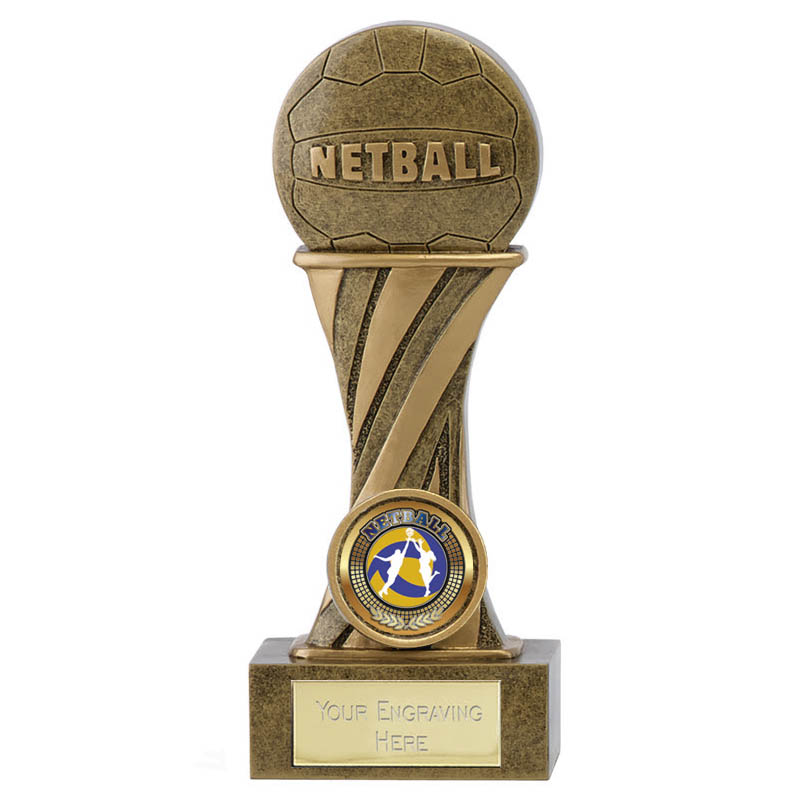 6 Inch Ball on Podium Netball Showcase Award