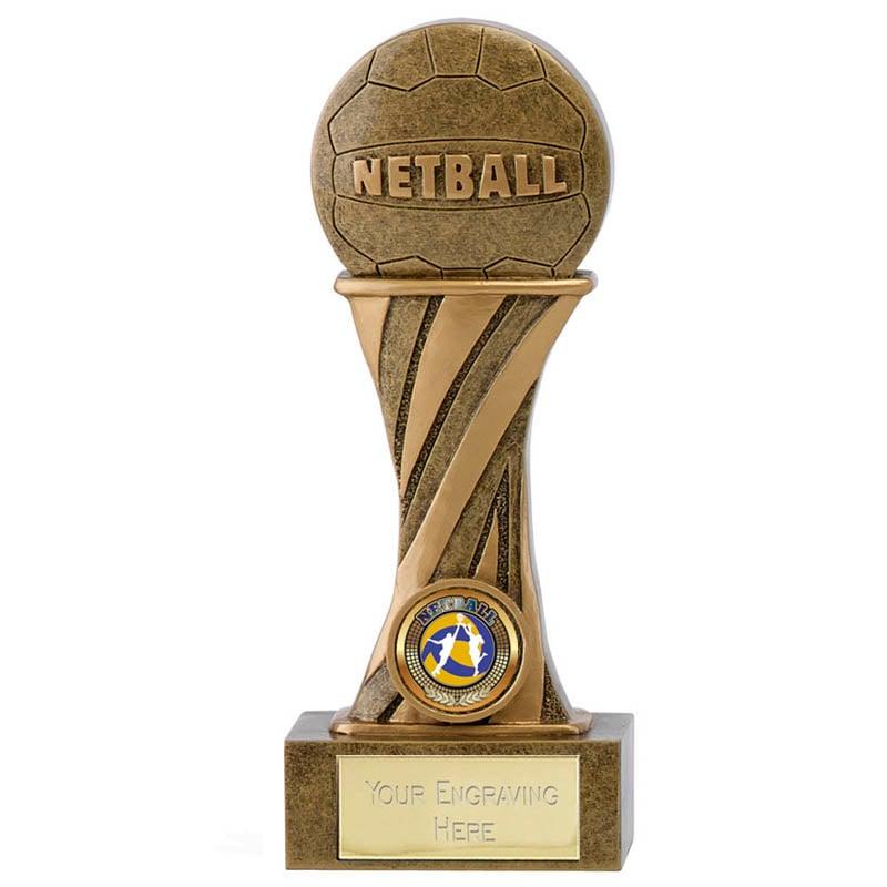 7 Inch Ball on Podium Netball Showcase Award