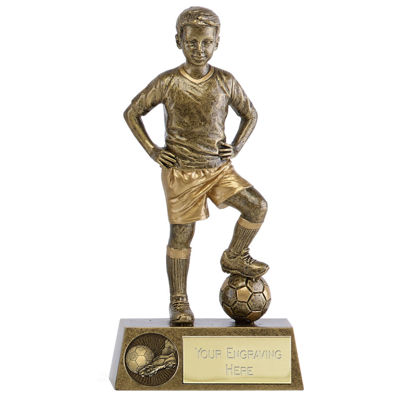 Boys Soccer Football Phoenix Statue