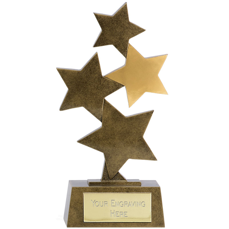Assorted Stars Starburst Star Award