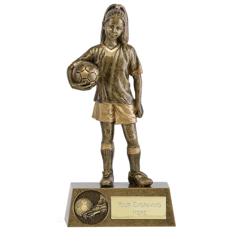 Girls Soccer Football Phoenix Statue