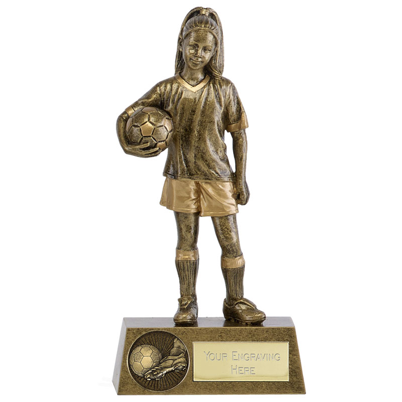 Girls Soccer Football Phoenix Statue