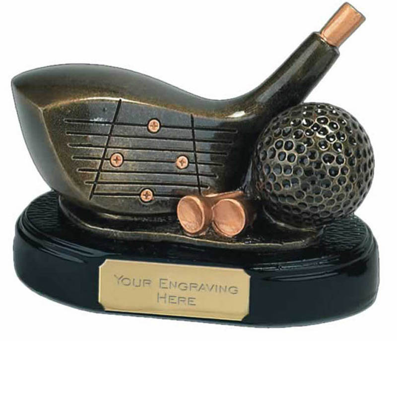 4 Inch Gold Driver Golf Award