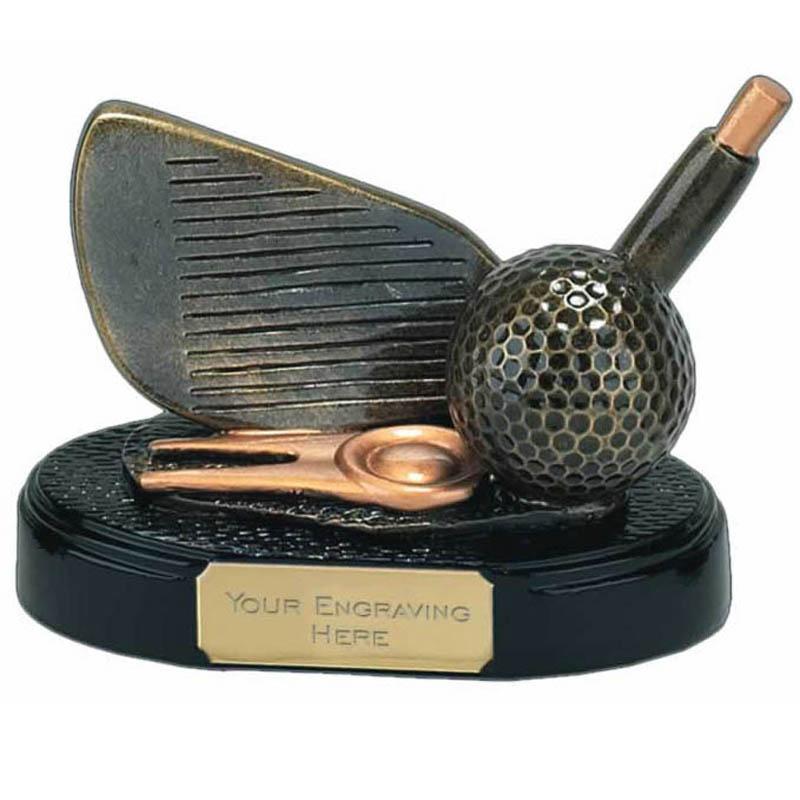 4 Inch Gold Iron Golf Award