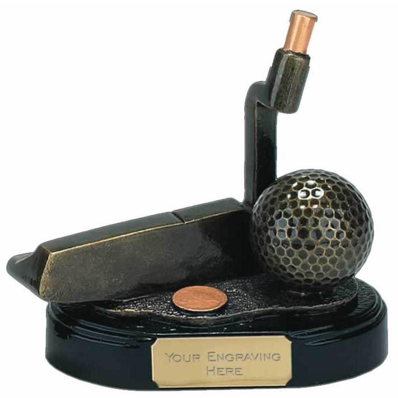 4 Inch Gold Putter Golf Award