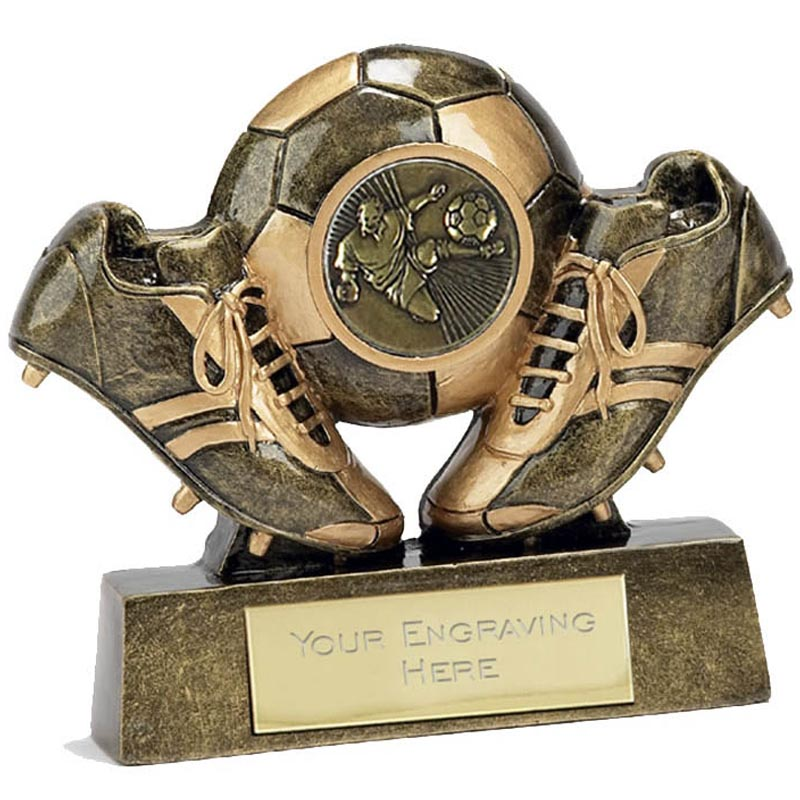2 Inch Gold Boots And Ball Football Award