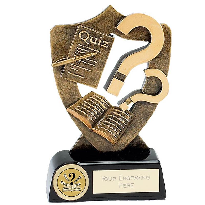 5 Inch Question Mark Quiz Award