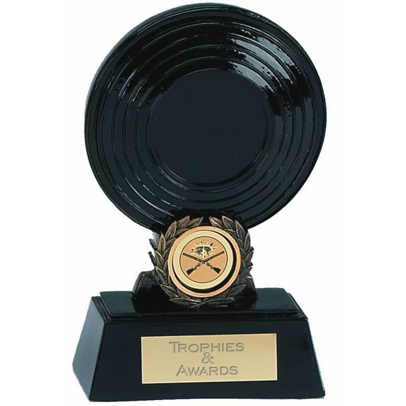 6 Inch Black Clay Pigeon Shooting Award