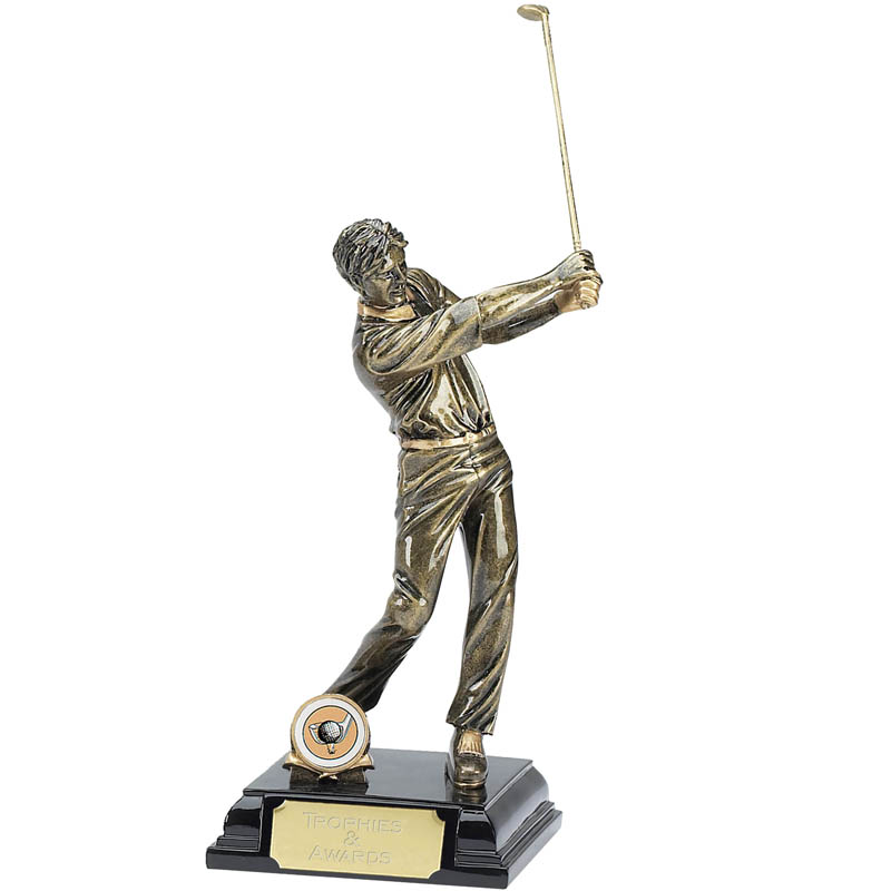 9 Inch Follow Through Golfer Golf Award