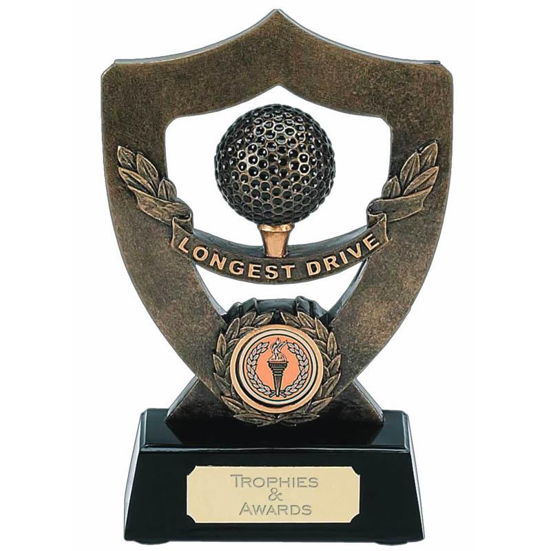 7 Inch Gold Longest Drive Golf Award