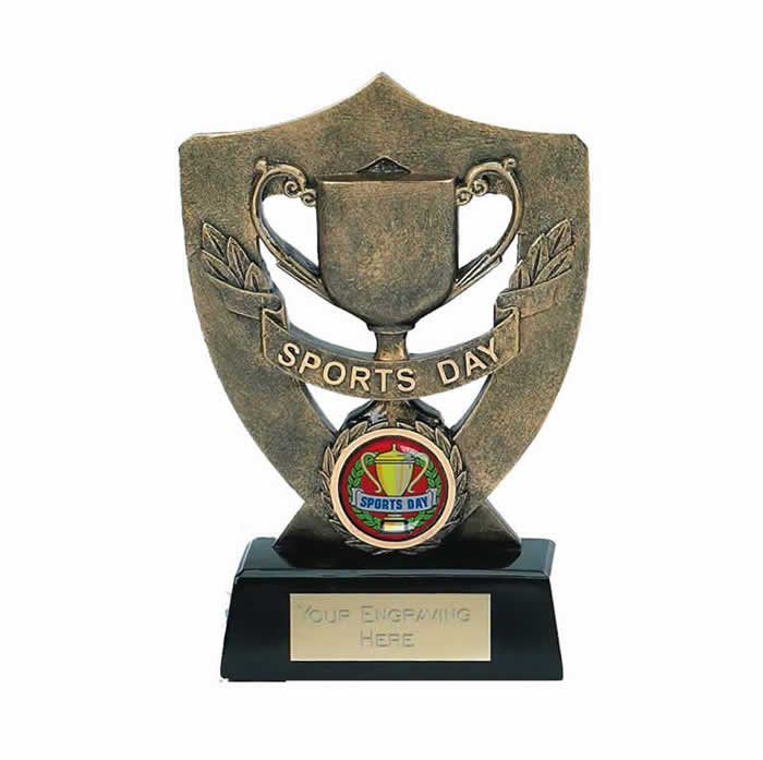 5 Inch Shield And Trophy Sports Day Award