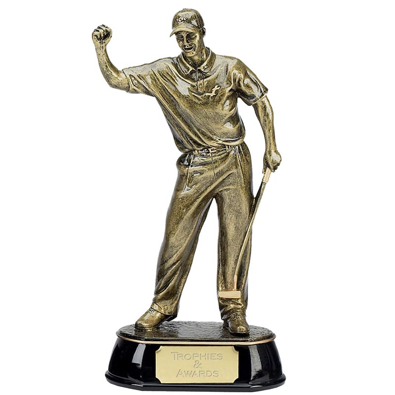9 Inch Gold Golfer Celebration Golf Award