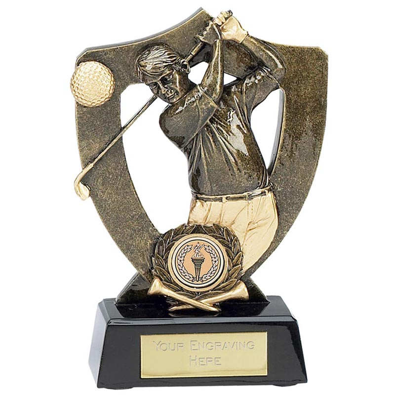 8 Inch Gold Golfer Golf Award