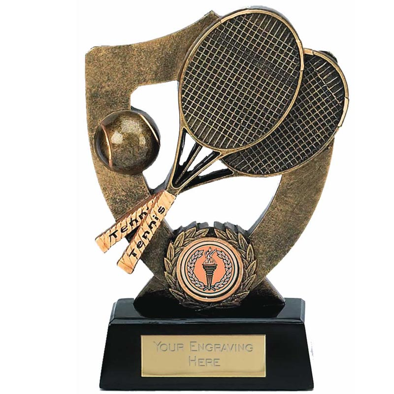 5 Inch Shield Back Tennis Award