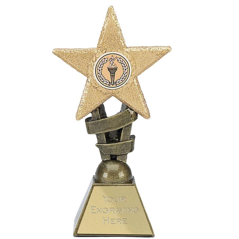 4 Inch Golden Glitter Star Award