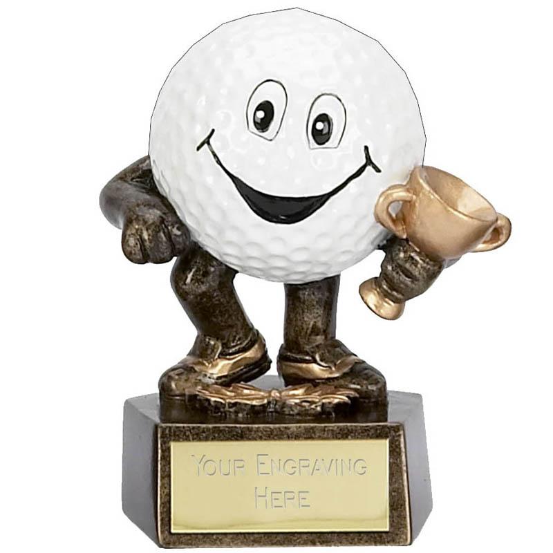 3 Inch Golf Ball Man Golf Award