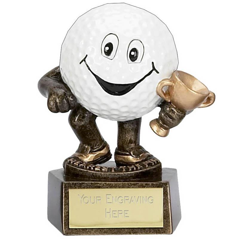 3 Inch Golf Ball Man Longest Drive Golf Award