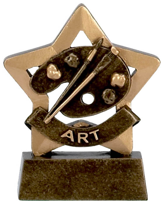 3 Inch Mini Star Art Award
