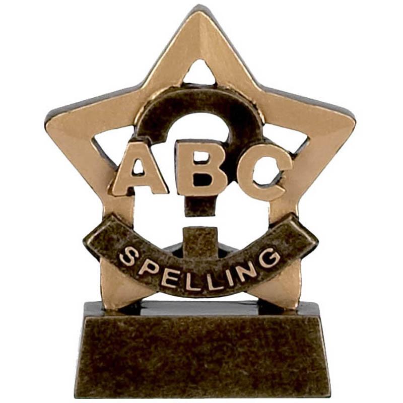 3 Inch Mini Star Spelling Award