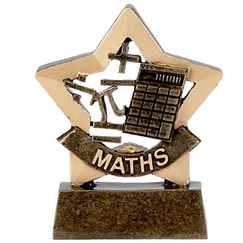 3 Inch Mini Star Maths Award