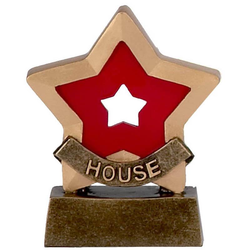 3 Inch Red House School Mini Star Award