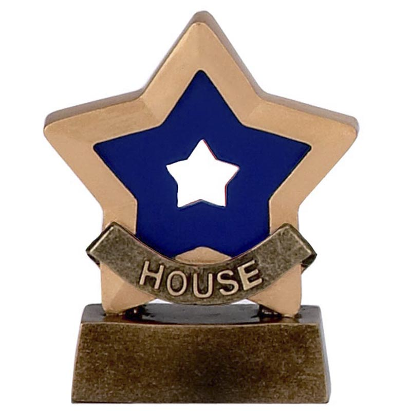 3 Inch Blue House School Mini Star Award