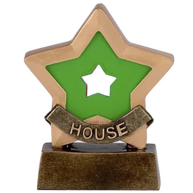 3 Inch Green House School Mini Star Award