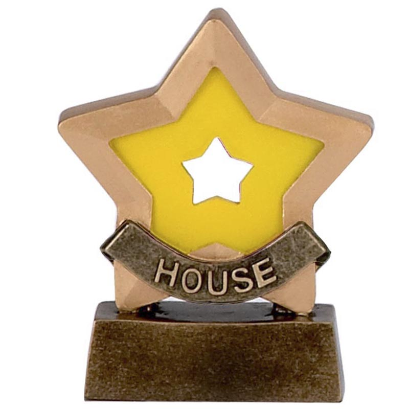 3 Inch Yellow House School Mini Star Award