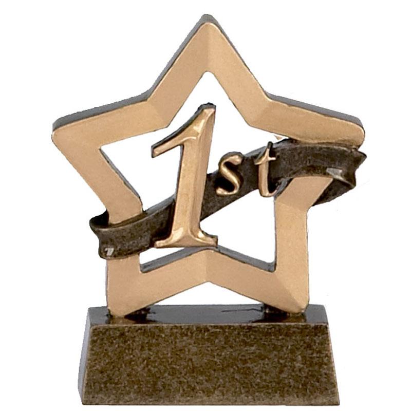 3 Inch Mini Star 1St Place Award