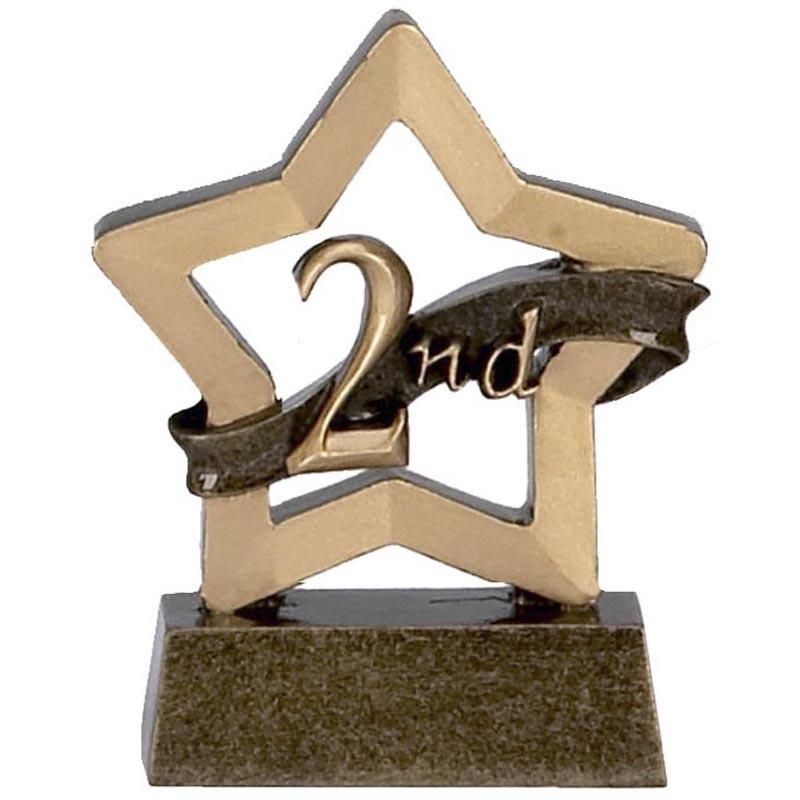 3 Inch Mini Star 2Nd Place Award