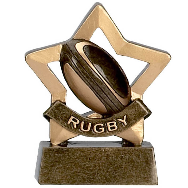 3 Inch Mini Star Rugby Award