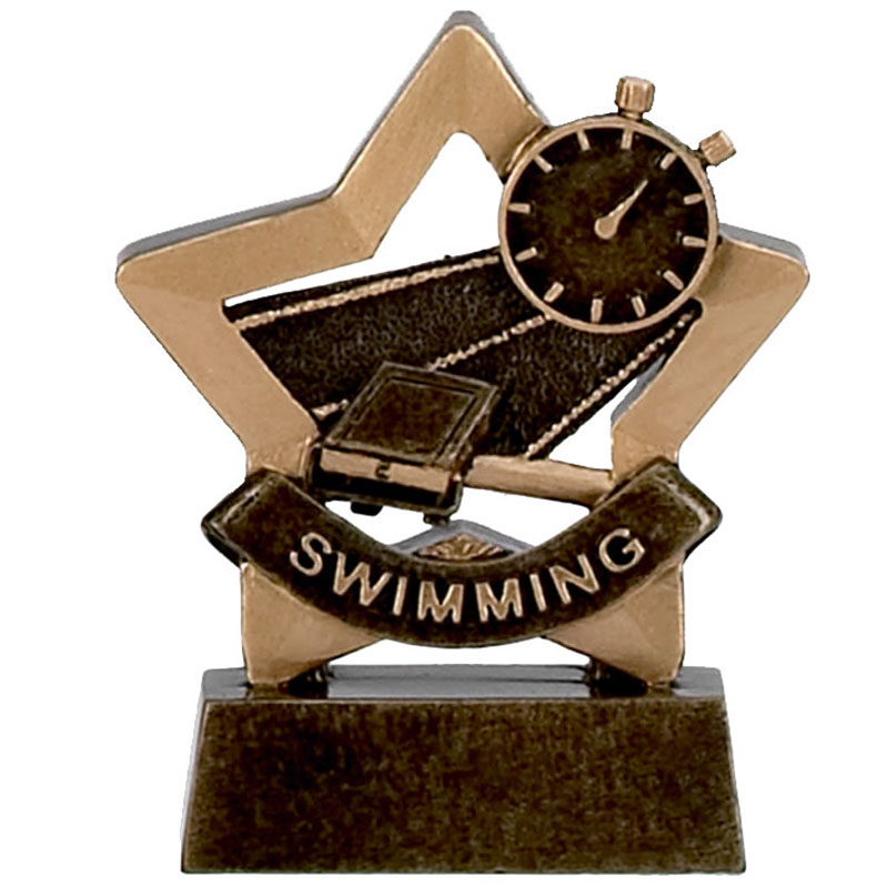 3 Inch Mini Star Swimming Resin Award