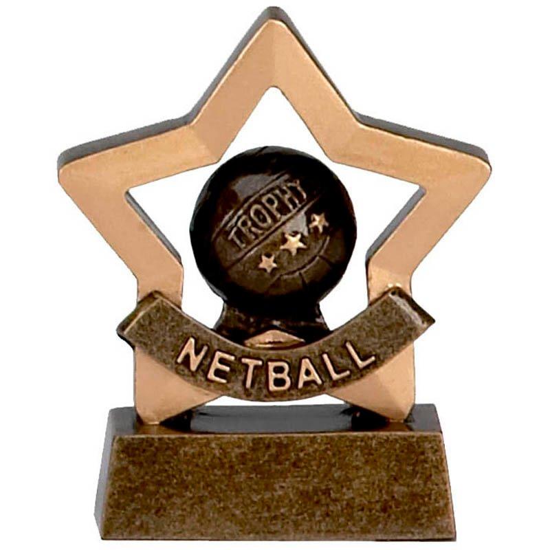 3 Inch Mini Star Netball Award