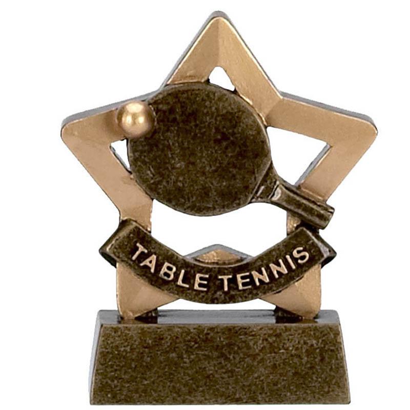 3 Inch Mini Star Table Tennis Award
