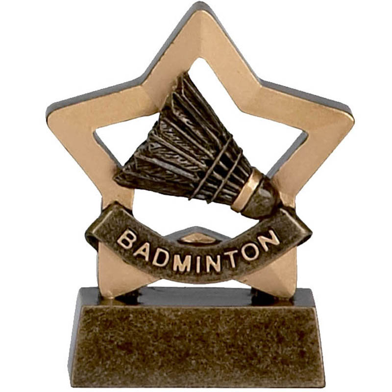 3 Inch Mini Star Badminton Award