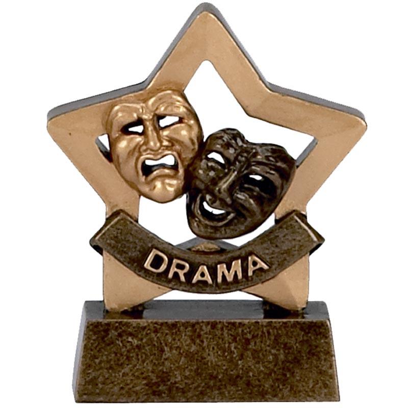 3 Inch Mini Star Drama Resin Award