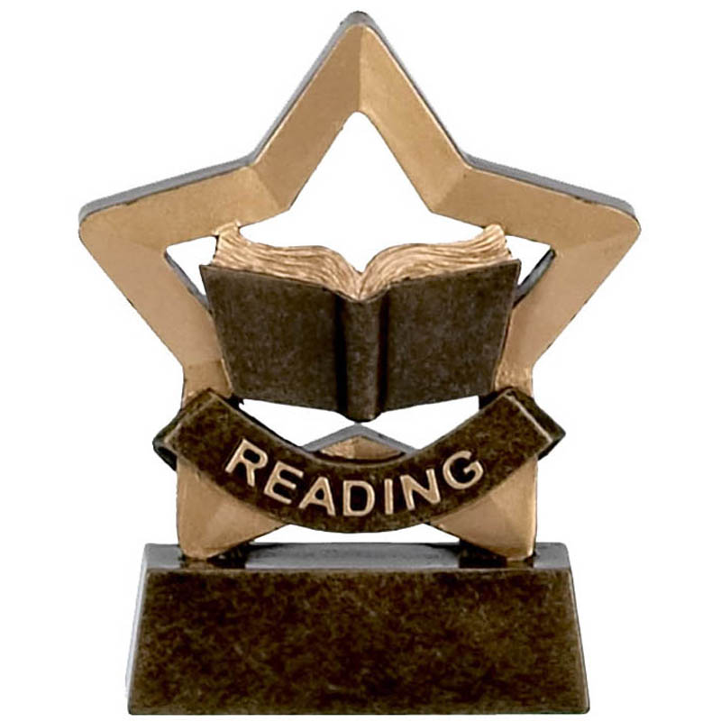 3 Inch Mini Star Reading Award Award