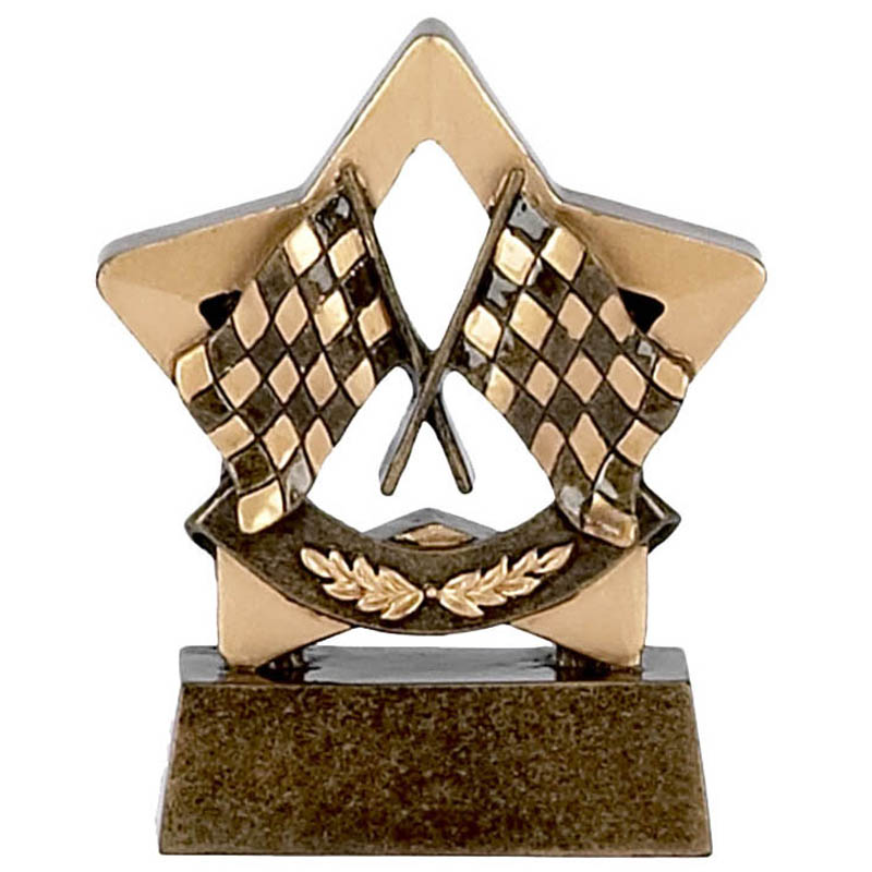 3 Inch Mini Star Racing Flags Award