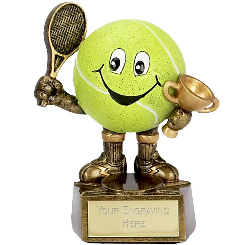 4 Inch Smiley Man Tennis Award
