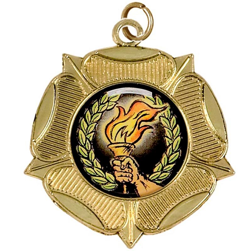 50mm Gold Tudor Rose Medal