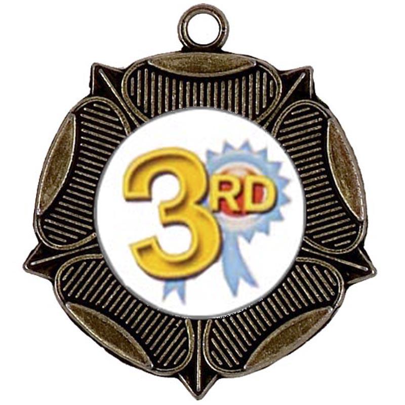 50mm Rose Bronze Medal